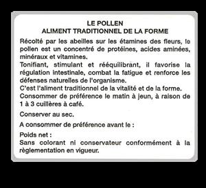 100 Etiquettes info le pollen
