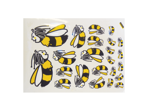 Planche Autocollante de 23 abeilles