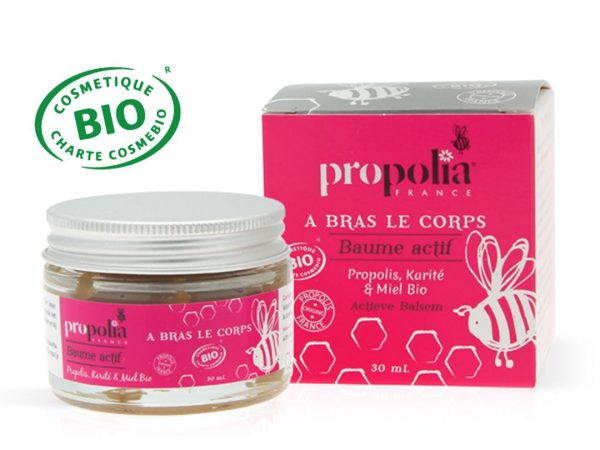 Baume actif BIO propolis, karité, miel, Propolia, l'unité