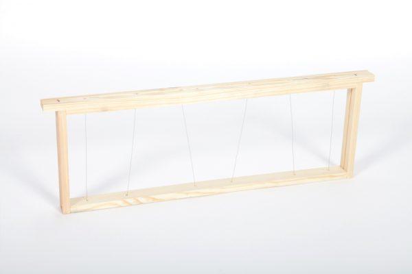 Cadre Dadant hausse fils verticaux/oblique inox
