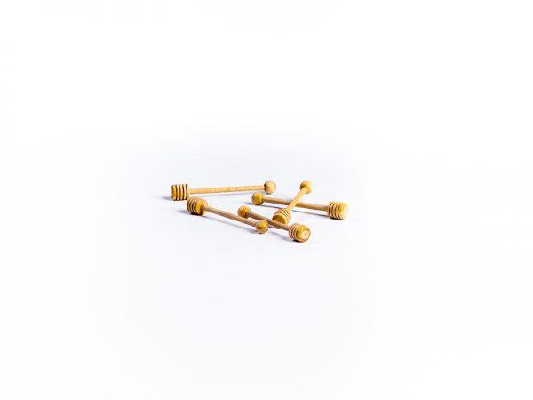 Mini cuillère buis et hêtre tournée 11cm