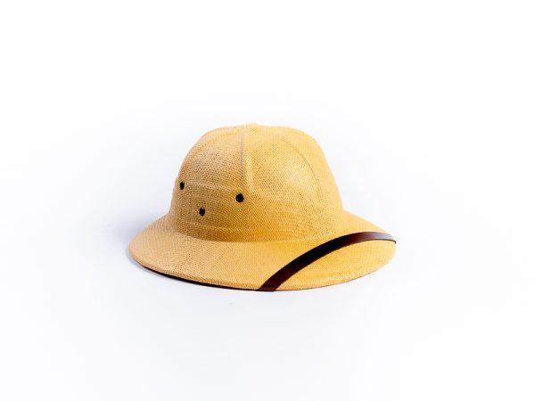 Chapeau colonial corde tréssée réglable