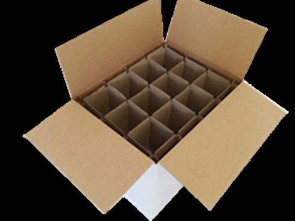 Carton avec intercalaire pour 12 pots 1kg plastique, LA PIÈCE