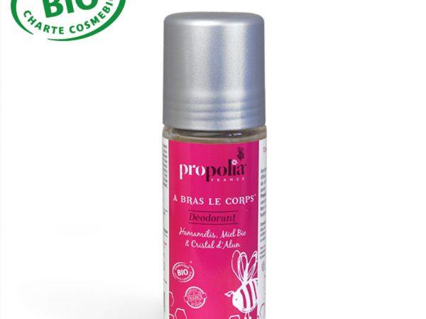 Déodorant Bio amamélis, miel, pierre d'alun