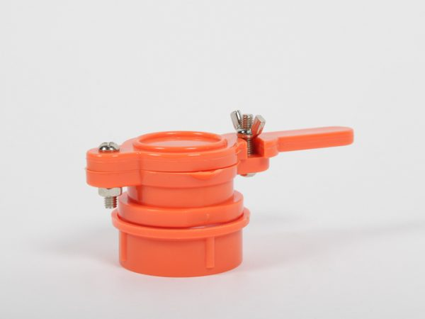 Robinet à clapet plastique 38mm avec écrou renforcé et joint