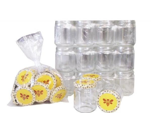 Pack de 36 pots en verre 250g avec capsules